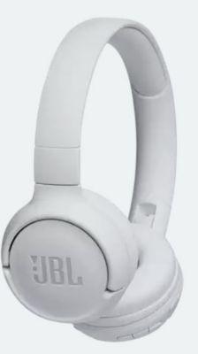 Audífonos JBL Inalámbricos On-Ear T500BT Blanco