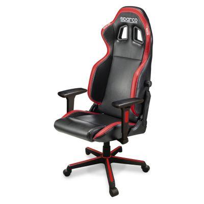 Silla Sparco Gaming Icon Negro y Rojo