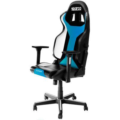 Silla sparco Gaming Grip Negro y Azul Sky 2019
