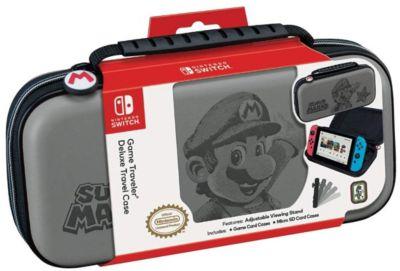 Estuche Game Traveler Deluxe Nintendo Switch Mario Gris