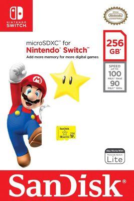 Memoria Micro SDXC 256Gb para Nintendo Switch