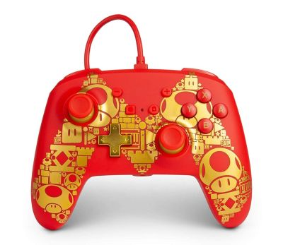 PowerA Enhanced Wired Controller Mario Golden