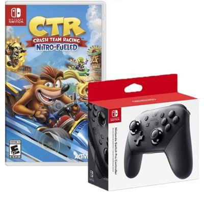 Mando Nintendo Switch Pro Controller + Videojuego Crash Team Racing
