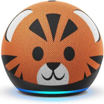 Parlante Inteligente Echo Dot 4ta Generación Infantil Tigre