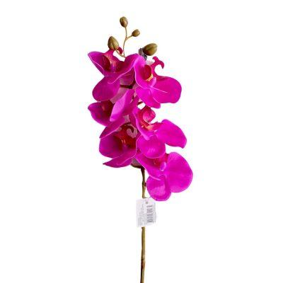 Orquídea Artificial de Silicona Morado