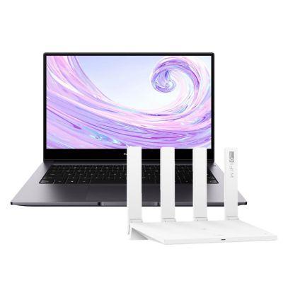 """Laptop Huawei 14"""" AMD Ryzen 7 3700U 8GB 512GB SSD + Router AX3 Dual Core WIFI 6 WS7100-30"""
