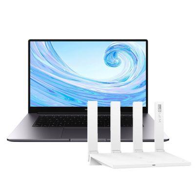 """Laptop Huawei 15.6"""" AMD Ryzen 7 3700U 8GB 512GB SSD + Router AX3 Dual Core WIFI 6 WS7100-30"""