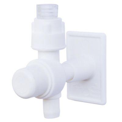 Expendedor de pasta dental blanco