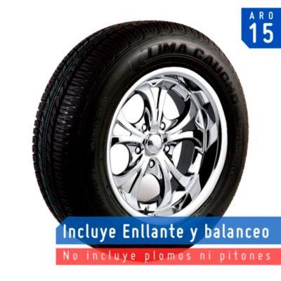 Llanta 195/65R15 T-70 Plus Negro 100% Lona