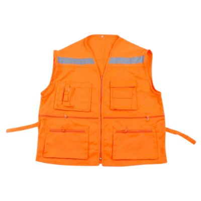 Chaleco Multibolsillo Naranja Talla XL