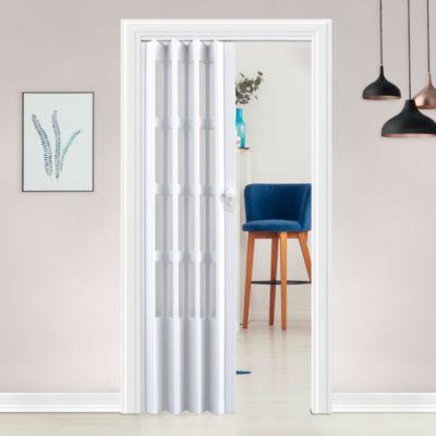 Puerta Plegable Lugano PVC 70 x 200 cm Blanca