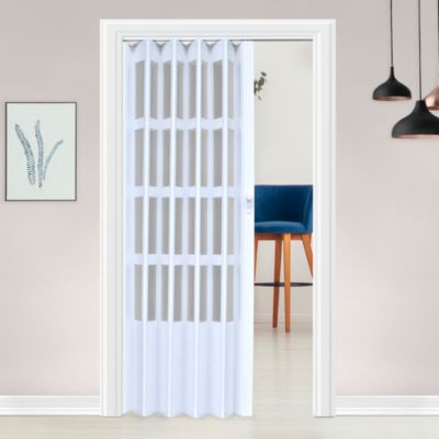 Puerta Plegable Lugano PVC 120 x 200 cm Blanca