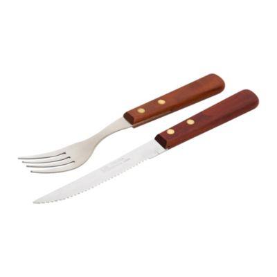 Cuchillo + tenedor parrillero