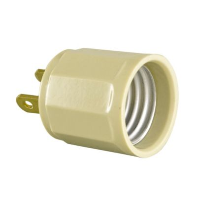 Socket E27 Simple Baquelita con Enchufe Marfil 2x15A