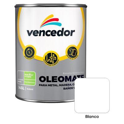Esmalte sintético Oleomate blanco 1/4 gl