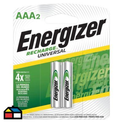 Pila recargable AAA x2 unidades