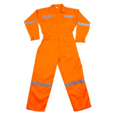 Overol Drill Naranja con Reflectivo Talla M/L/XL