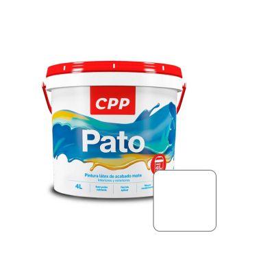 Látex Pato Blanco Mate 4 L