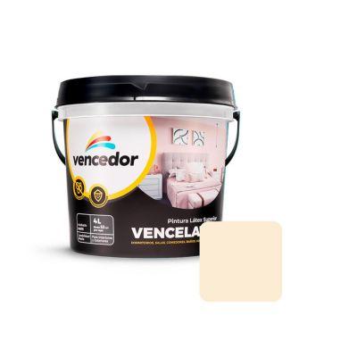 Látex Vencelatex Blanco Humo Mate 4 L