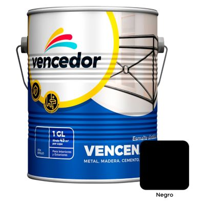 Esmalte sintético Vencenamel negro 1 gl