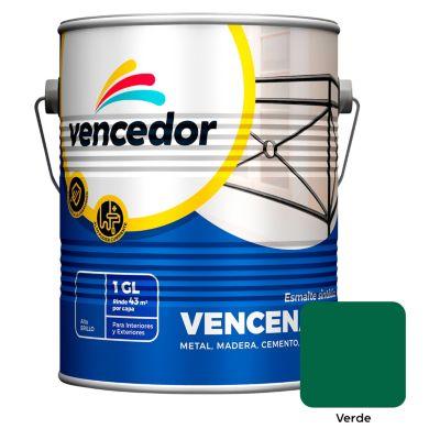 Esmalte sintético Vencenamel verde 1 gl