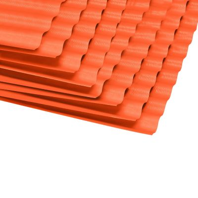 Techo de Polipropileno Flexiforte Rojo 1.2 mm 1.10 x 3.05 m