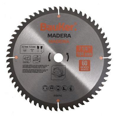 Disco para sierra circular 184 mm 60 dientes para madera
