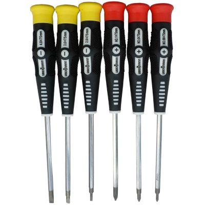 Kit de 6 destornilladores de precisión punta plana