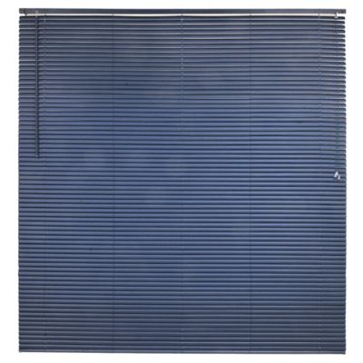 Persiana de PVC 160 x 165 cm azul marino