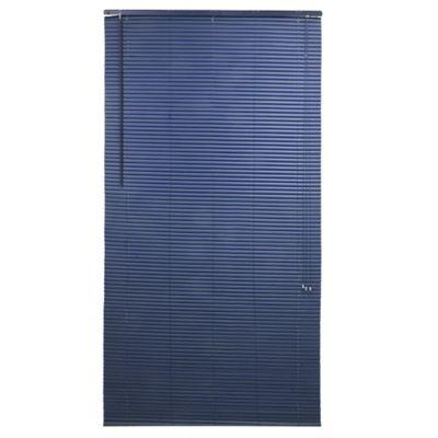 Persiana de PVC 120 x 220 cm azul marino