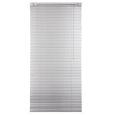 Persiana de aluminio 80 x 165 cm plateada