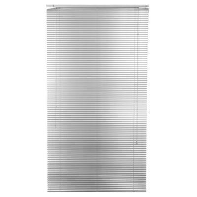 Persiana de aluminio 120 x 250 cm plateada