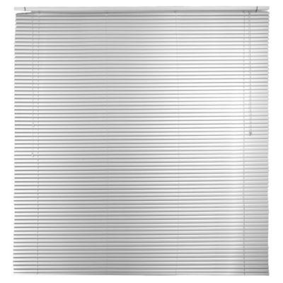 Persiana de aluminio 160 x 165 cm plateada