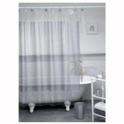 Cortina de baño Line silver 178 x 180 cm