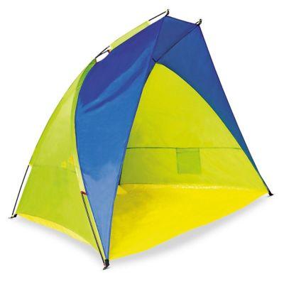 Paraviento 120 x 110 x 220 cm azul y amarillo