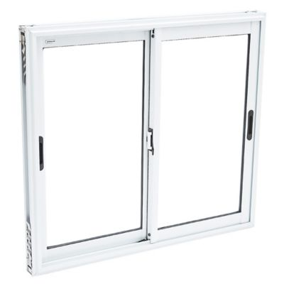 Ventana de aluminio blanca 100 x 90 x 10 cm