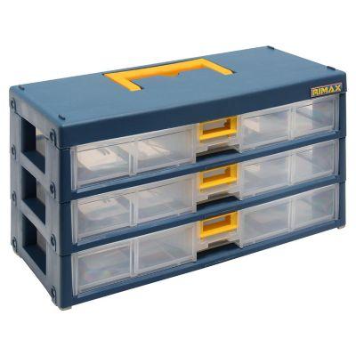 Organizador de herramientas 3 cajones azul