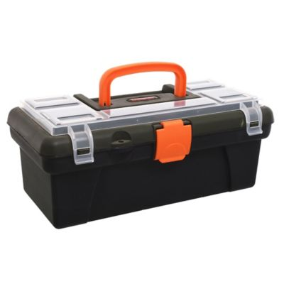 """Caja de herramientas plástica 12"""" con organizador"""