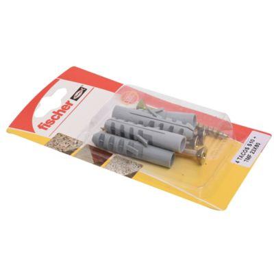Tarugo SA10 + tornillo TMF 23 x 60 por 4 unidades