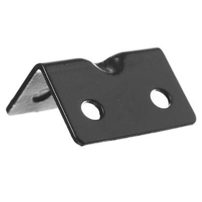 Conector ángulo negro de 42 mm