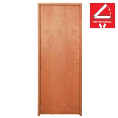 Puerta de interior placa Cedro Ancho 70 x 200 x 10 cm Izquierda