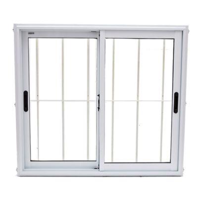Ventana de aluminio con reja blanca 100 x 90 x 10cm