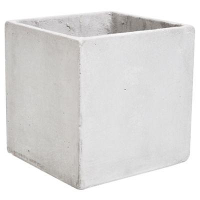 Maceta cemento cubo 20 x 20 cm