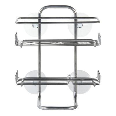Organizador de ducha de acero con ventosa