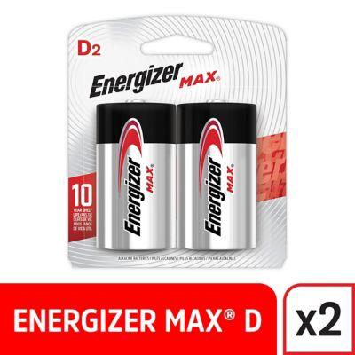 Pack de 2 pilas alcalinas D