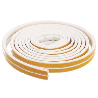 Burlete goma tipo D blanco