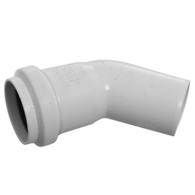 Codo PVC junta elástica 45° MH 40 mm