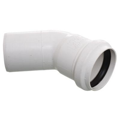Codo PVC junta elástica 45° MH 50 mm