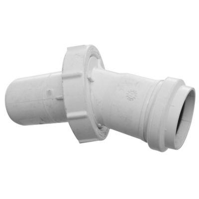 Codo PVC junta elástica poliangular 45° MH 40 mm