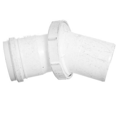 Codo PVC junta elástica poliangular 45° MH 63 mm